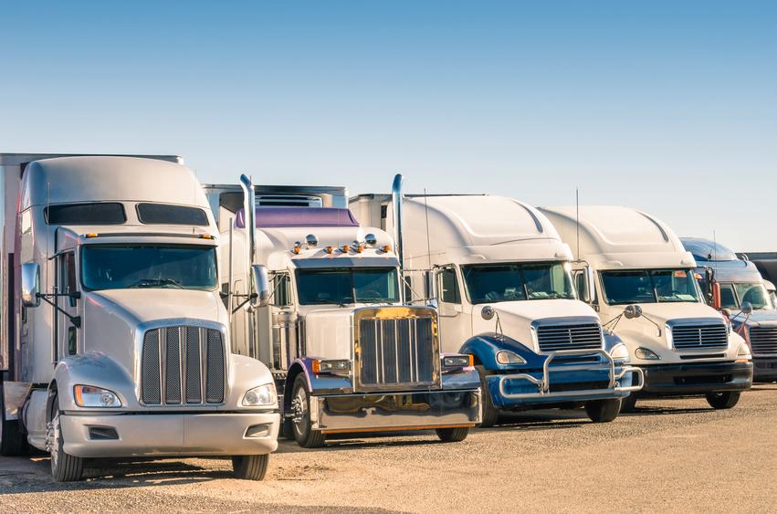 semi Trucks at a parking lot